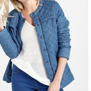 Quilted chambray jacket size 6